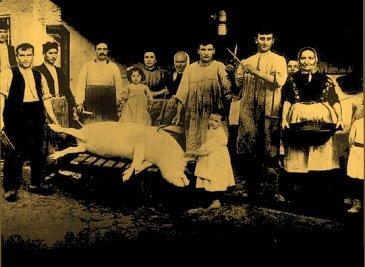 Dem Schlachtfest im Winter 1904